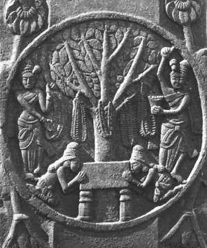 worship of the throne at the Bodhi Tree