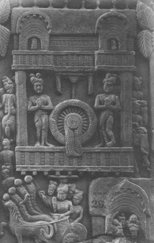the wheel as Buddha